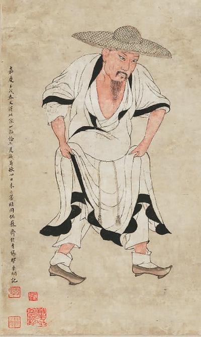 朱之蕃《临李公麟画苏轼像轴》(局部)故宫博物院供图