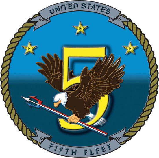 ▲美海军第五舰队徽标
