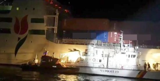 韩国驶往中国渡轮半夜起火:一名中国游客送医(图)
