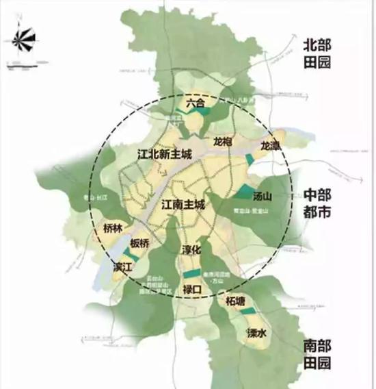 图片来源:《南京市城市总体规划(2018—2035)》草案