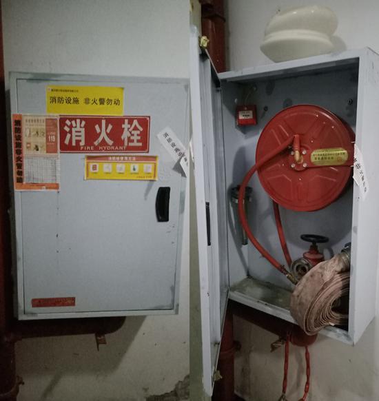 12楼的消防栓。 受访者 供图