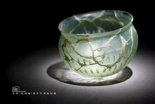 南京市博物馆 东晋 玻璃罐。来源:受访者供图
