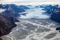 俯瞰格陵兰岛