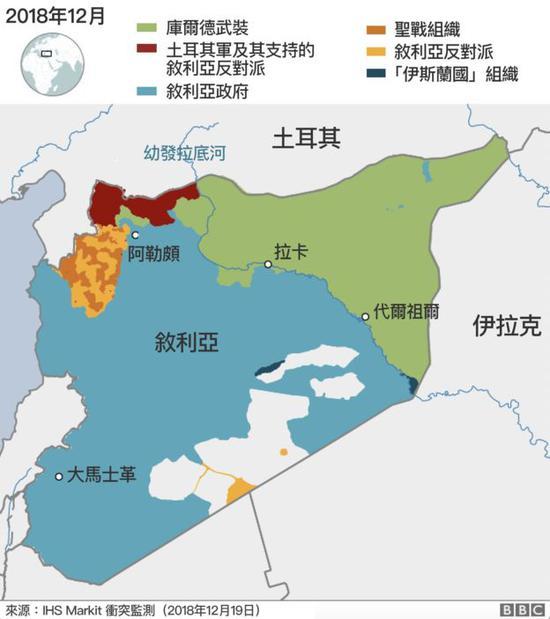 12月叙利亚局势(图片来源:BBC)