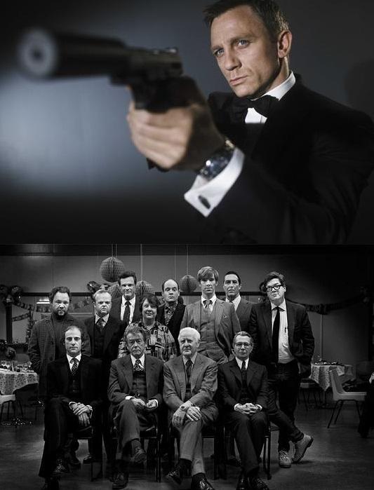 电影《007》中的詹姆斯·邦德,《锅匠,裁缝,士兵,间谍》中的间谍现象