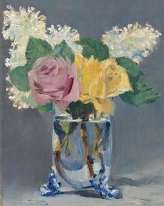 马奈《丁香与玫瑰》,1882年,成交价格:12,968,750美元