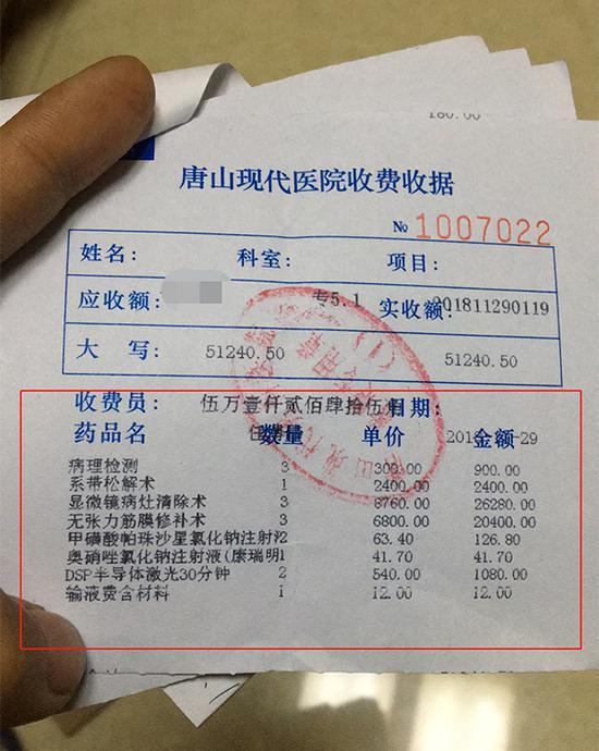 其中一张收费票据 本文图均为 受访者 供图
