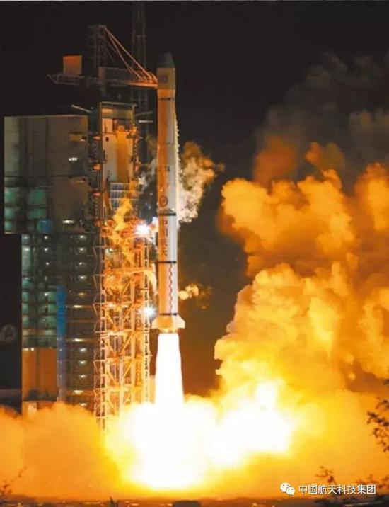 ▲ 2007年4月14日,第一颗北斗二号卫星发射成功