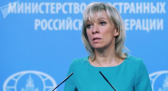 俄罗斯社交部说话人扎哈罗娃 图丨俄卫星社