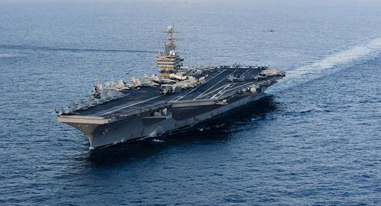 美伊紧张局势加剧,图为美国向中东部署航母战斗群。(图:法新社)