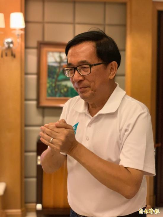 陈水扁现在正在保外就医(图片来源:台湾《说相符报》)