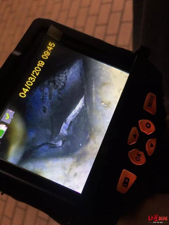 △4S店内窥镜初步检查中缸有裂缝