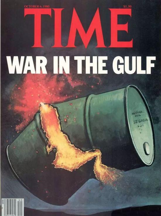 ▲《时代》周刊在1988年封面《海湾的(美伊)搏斗》