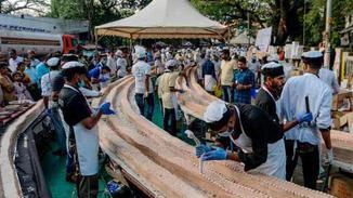 印度打造全球最长蛋糕6.5公里