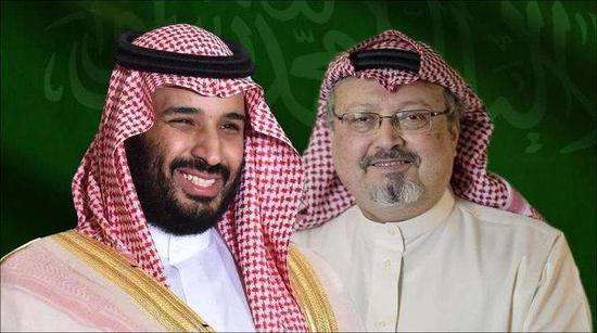 原料图:沙特王储与卡舒吉
