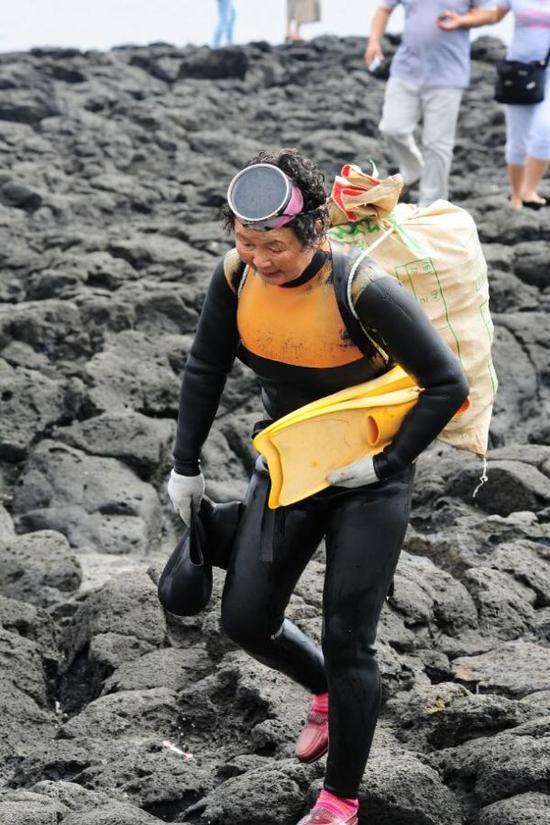 济州岛的女潜水员绝对不是早退息的一群人。(视觉中国)