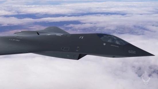 美军6代战机想象图。