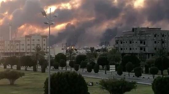 沙特遭袭炼油厂