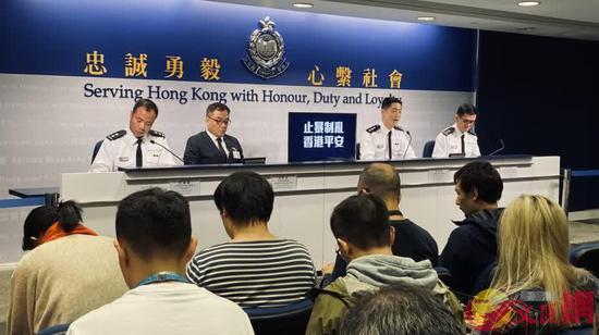 香港警方昨日(2日)举行例行记者会,介绍近况。(图源:文汇网)