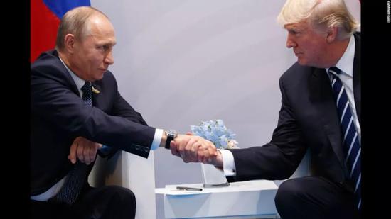 ▲俄罗斯总统普京与美国总统特朗普(CNN)