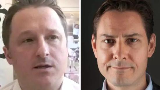 在华依法被拘的两名加拿大公民迈克尔•斯帕弗(左)和康明凯(右)