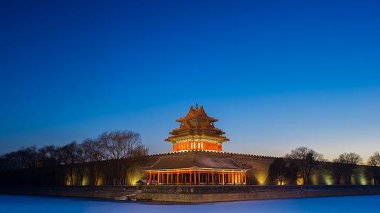 ▲故宫夜景原料图 图片来源:视觉中国