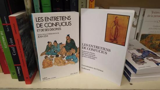 巴黎凤凰书店内的儒家思想书籍。新华社记者杨志刚摄