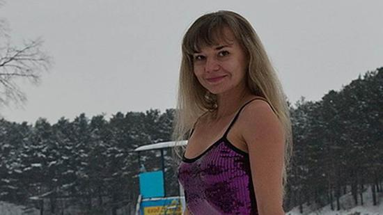 图说:塔季扬娜晒出的泳装照片