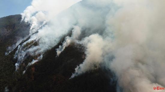 冕宁县森林大火现场