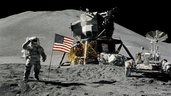 资料图:美国宇航员詹姆斯Â・艾尔文1971年成功登月