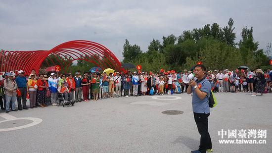 北京市台联副会长王慧向大家致以节日问候。(中国台湾网发)