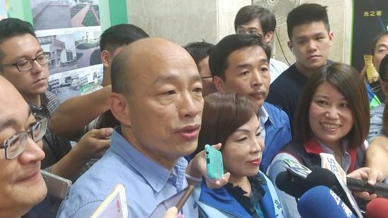 韩国瑜接受台媒采访 图自台媒