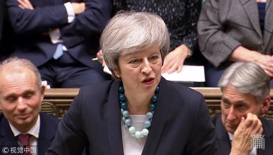 英国首相特蕾莎·梅(视觉中国)