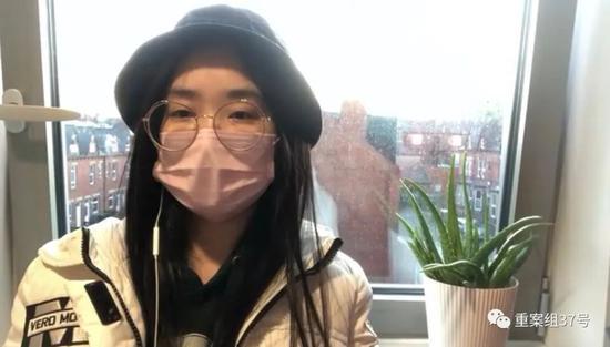 ▲3月5日,鲁冰冰批准采访时戴的这个口罩是她末了一个,已经戴了三、四次。视频截图