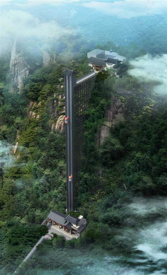 """""""神女天梯""""效果图。(巫山县委宣传部供图)"""