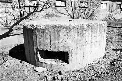 康庄车站附近的水泥地堡,建造于上世纪40年代