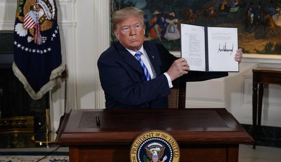 特朗普5月宣布退出伊核协议,引发市场对制裁的担忧,但如今发现影响有限 图源:美联社