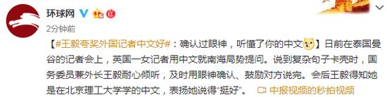 视频|王毅夸奖外国记者中文好:你中文说得不错 挺好