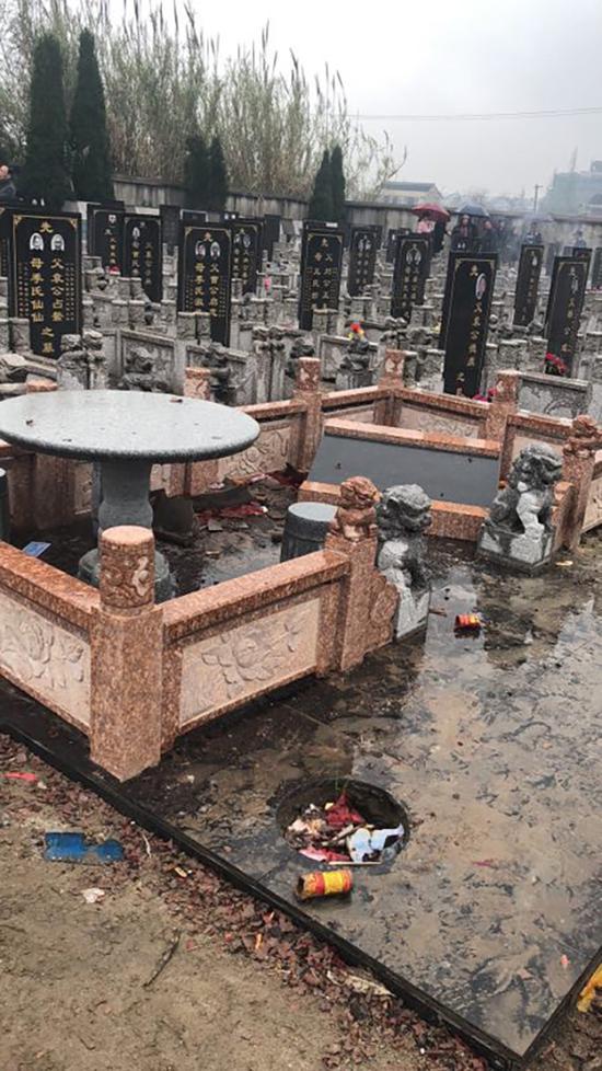 2018年3月,墓地第二次被损毁