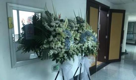 12月27日下午,民航总医院举办追思会,沉痛悼念杨文同志。 东方网 图