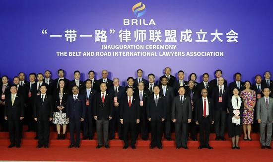 """12月8日,""""一带一路""""律师联盟在中国广州宣布成立。 李光印 摄"""