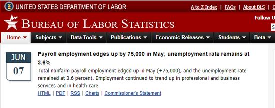 美国5月非农就业仅增7.5万人 不及预期一半_中欧新闻_欧洲中文网