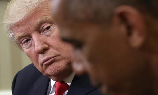 特朗普和奥巴马 资料图