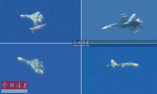 2017年1月,美军迷在内华达州格罗姆干湖附近拍到了美空军F-16战机与苏-27假想敌机进走搏斗训练照片。