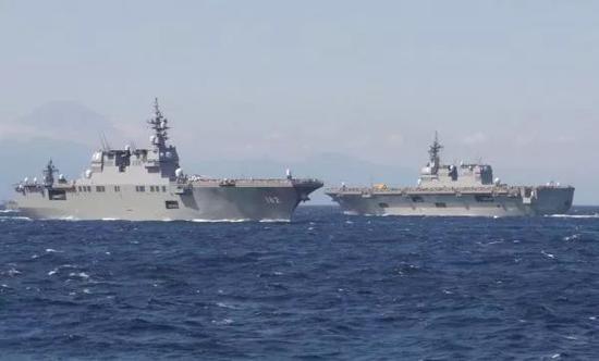 ▲日本海上自卫队舰艇