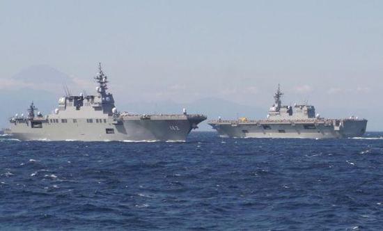 图为日本海上自卫队舰艇