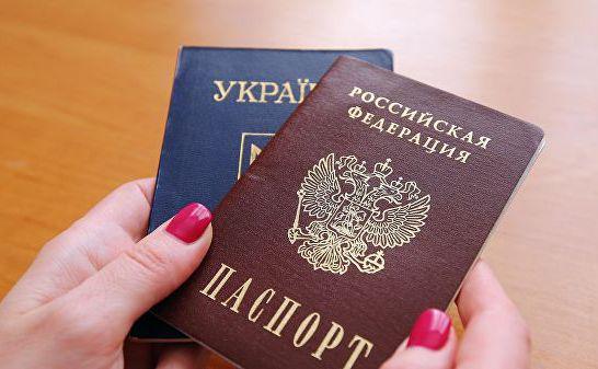 乌克兰护照与俄罗斯护照 (图源:俄新社)