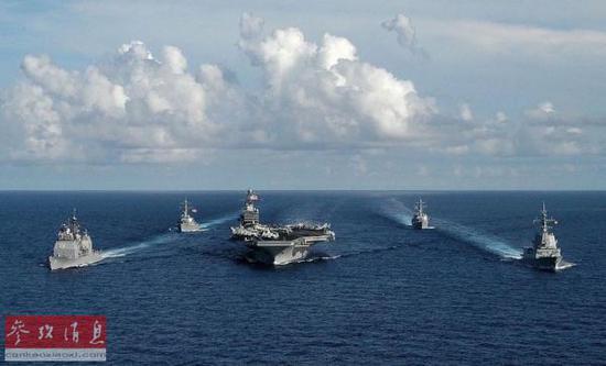 资料图片:美国海军航母战斗群。