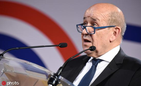 法国外交部长勒德里昂 @IC Photo