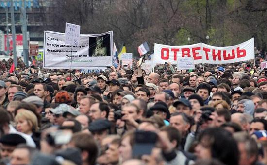 """莫斯科非法集会现美国""""法律顾问""""(图)"""